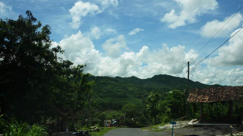 Wilayah Gedangsari, topografinya di antara bukit dan lembah. Dok: KH