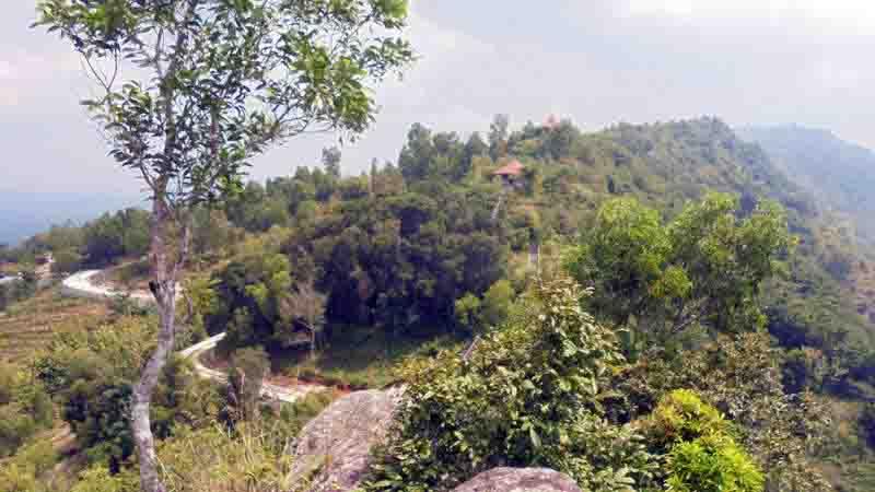 Pemandangan dari Gunung Gambar. Foto : Hari