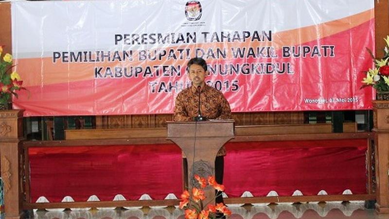 Launching Tahapan Pilkada Gunungkidul. KH/Juju.