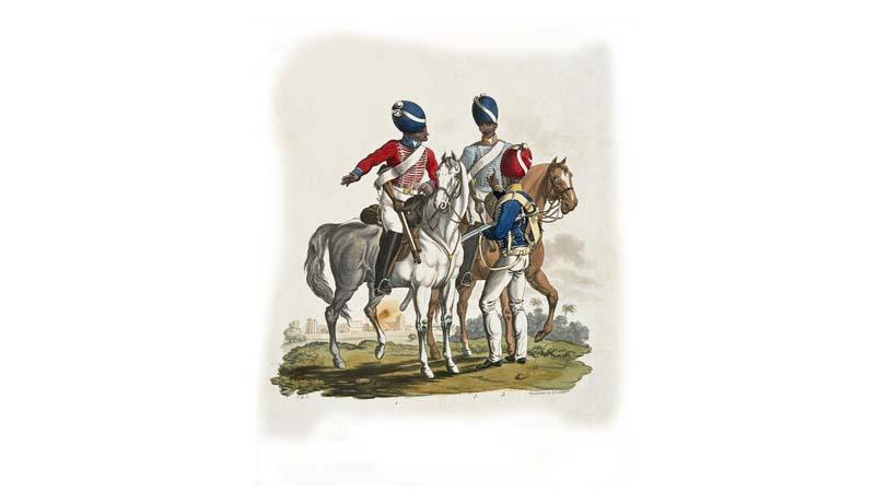 Ilustrasi Salah satu pasukan Inggris di Jawa. Gambar : memoryprints.com