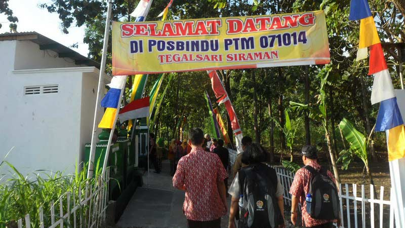 Tim Penliai Lomba Desa DIY meninjau Desa Siraman. KH/Sarwo.
