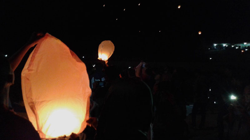 Lampion Embung Srinten. Foto : Andri