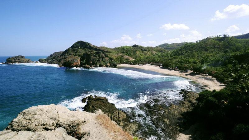 Panorama Pantai Siung, Desa Purwodadi Kecamatan Tepus. KH/jjw.