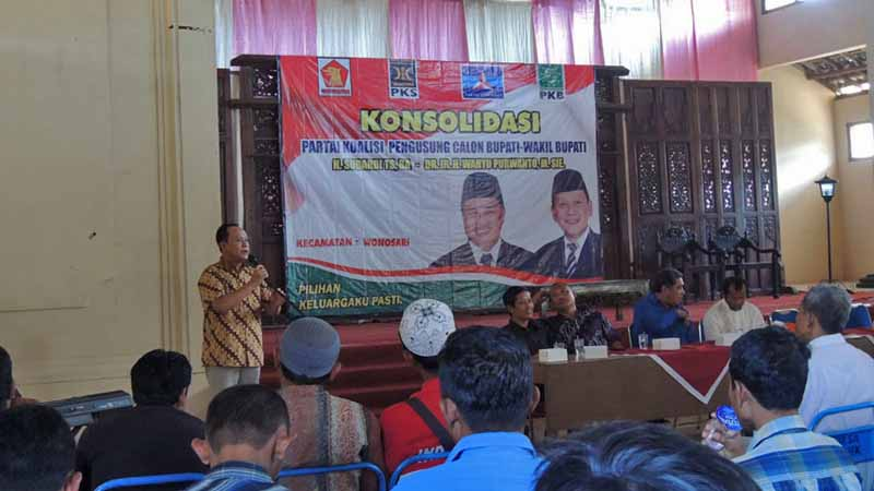 Orasi Wahyu Purwanto. Foto : KH/Kandar