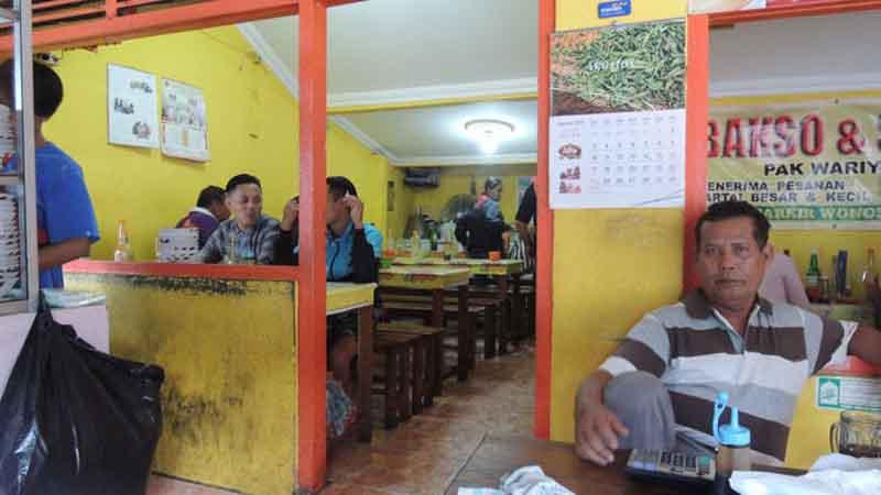 Warung Bakso dan Soto Wariyun. Foto : KH/Kandar