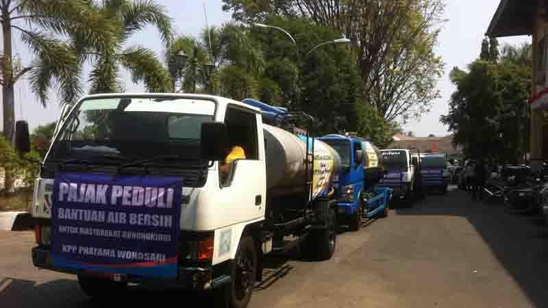Bantuan air bersih KPP Pratama Wonosari. Foto : KH/Dwianjani