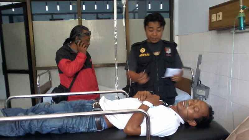 Joko dalam perawatan. Foto : KH/Dwianjani