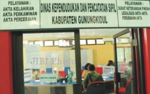 Kantor Disdukcapil Gunungkidul. Dok: Harjo/Bisnis Indonesia