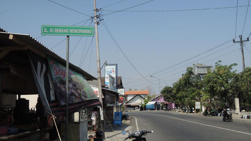 Jalan Lingkar Utara Wonosari atau Jl Demang Wanapawira. KH/Kandar.