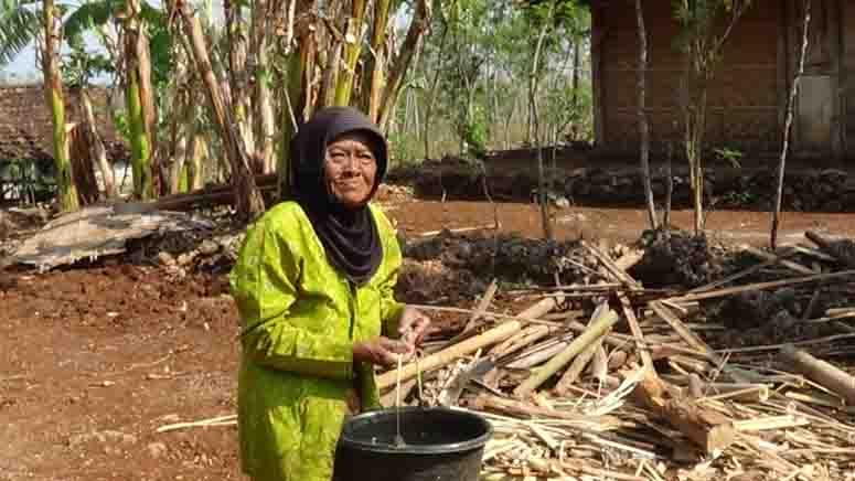 Seorang mengambil air. Foto: KH/Dwianjani