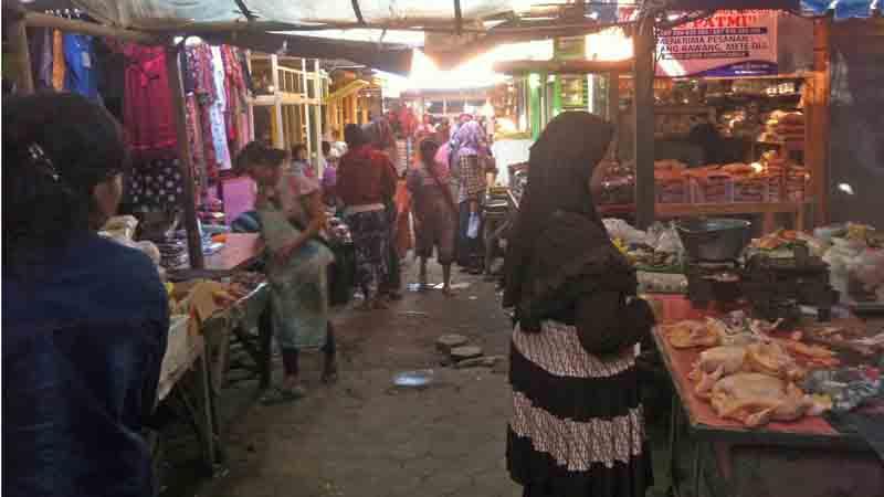 Salah satu sudut pasar Semin. Foto: KH/Dwianjani