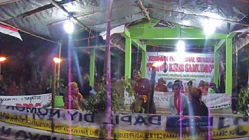 Salah satu pentas srandul. Foto : KH/Kandar