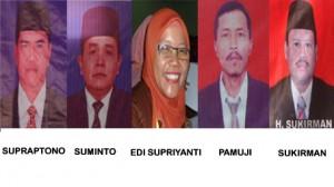 5 dari 6 Kades yang terpilih di kecamatan Playen. Foto: Sarwo