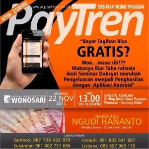 Brosur Informasi seminar PayTren Foto: Dok. PayTren Gunungkidul