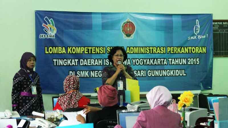 Lomba Kompetensi SIswa SMK Bidang Manajemen dan Bisnis se-DIY. KH/Kandar.