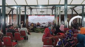 Suasana sarasehan pendidikan di Bangsal Sewoko Projo, Foto: KH/ Kandar