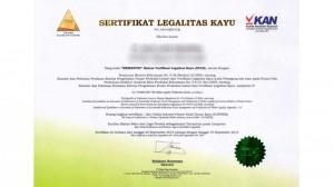 Ilustrasi Sertifikat Legalitas Kayu. Sumber : Internet