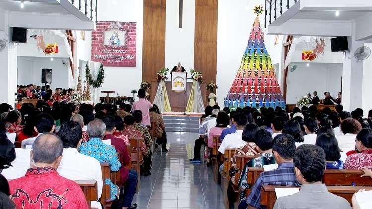 Pelaksanaan Perayaan Natal Di GKJ Wonosari, Foto: KH