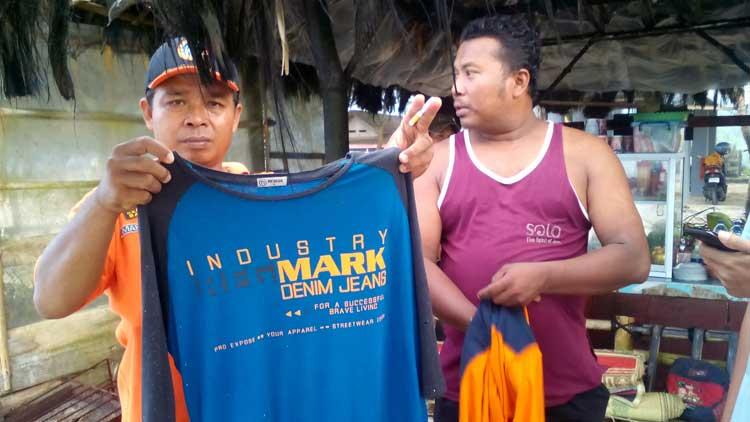 Baju korban laka laut yang ditemukan, Foto: KH/ Maria Anjani
