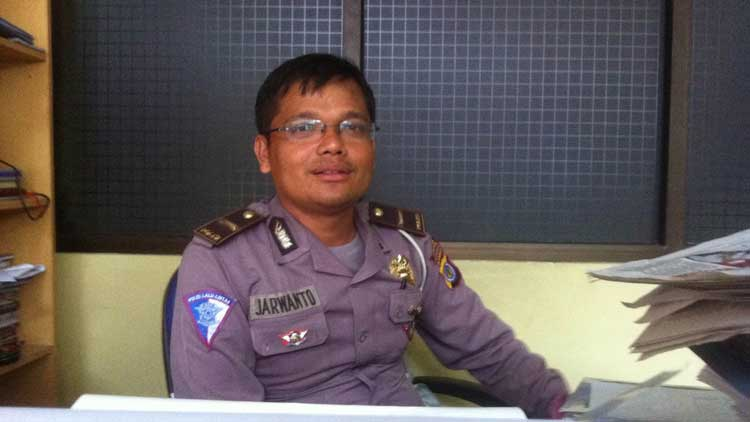 Kepala Unit Dikyasa Satlantas Polres Gunungkidul,Inspektur Polisi Dua Jarwanto. Foto: KH/ Maria Anjani