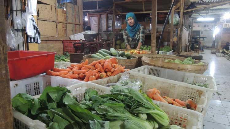 Penjual sayur Pasar Argosari, Wonosari, Foto: KH/ Kandar