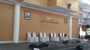 Lokasi Debat di Ruang Rapat Paripurna DPRD Gunungkidul.