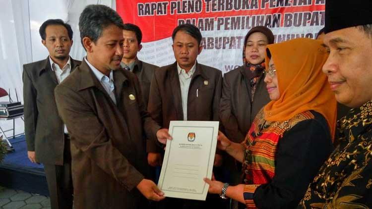 Badingah-Immawan, Bupati dan Wakil Bupati terpilih. KH