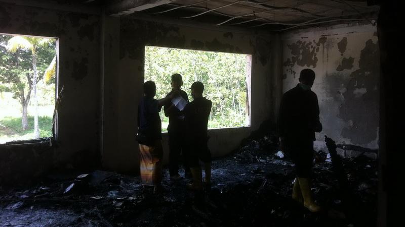 Musibah kebakaran di PP Darul Quran Wal Irsyad. KH/Anjani
