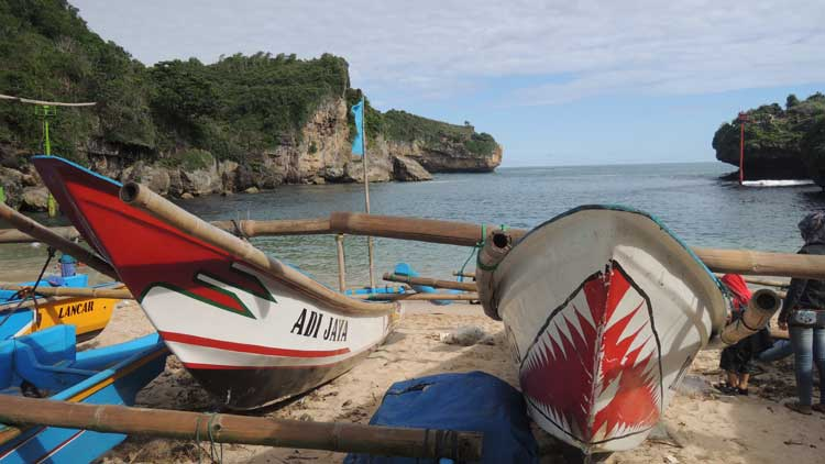 Pantai Gesing, Salah satu pendaratan ikan di Gunungkidul, Foto: KH/ Kandar