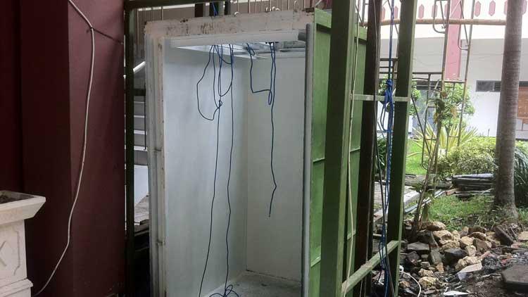 Pembangunan Lift pemda yang menuai kritik. KH/ Maria Dwianjani