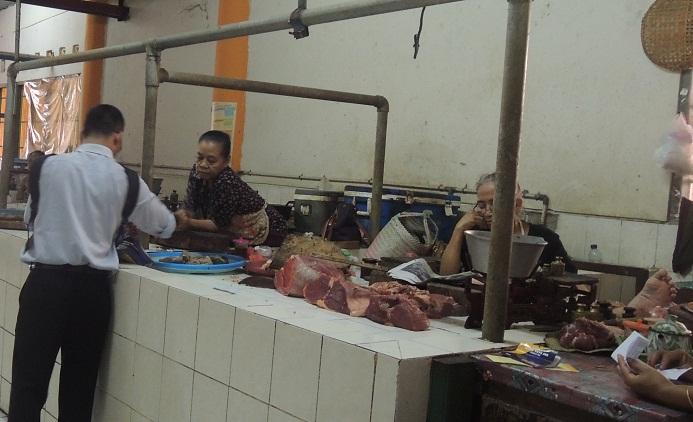 Penjual daging. KH