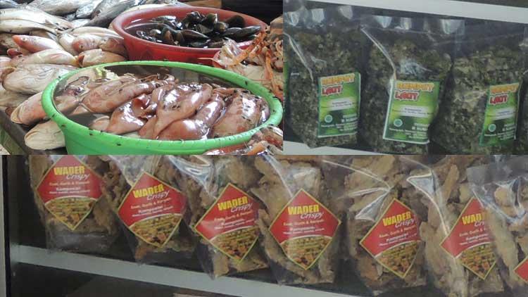 Ikan dan hasil produk olahan sumber daya laut Gunungkidul. KH/ Kandar