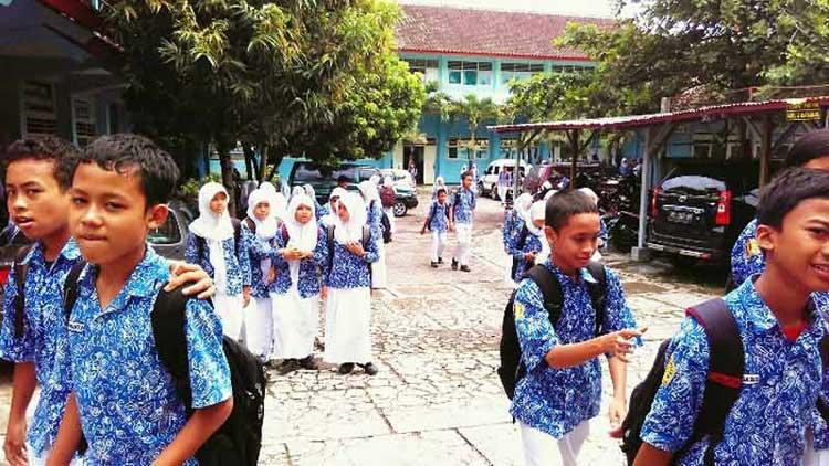 Pelajar salah satu SMP di Gunungkidul, Foto: Dok. KH
