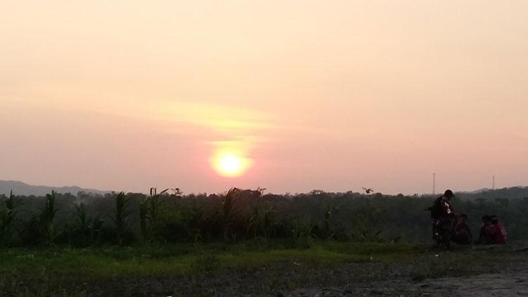 Pemandangan sunset di Gunung Gedhe, Foto: KH/ Edo