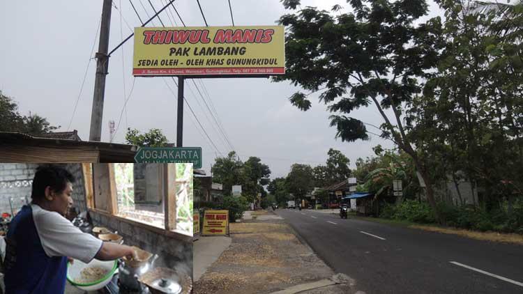 Kios Thiwul Manis Pak Lambang, (insert: proses memasak Thiwul). KH/ Kandar
