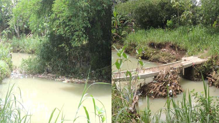 Kondisi sungai yang dapat meluap saat hujan deras. KH/ Kandar