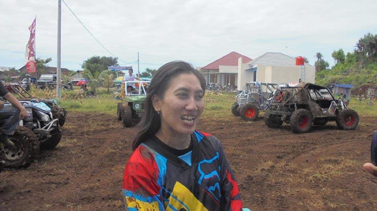 Fitri, salah satu peserta event GOA di Pantai Krakal. KH/ Edo