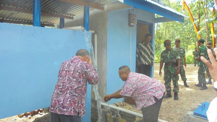 Peresmian sumur bor di Karangmojo oleh Kodim 0730 dan Dinas TPH. KH/ Edo
