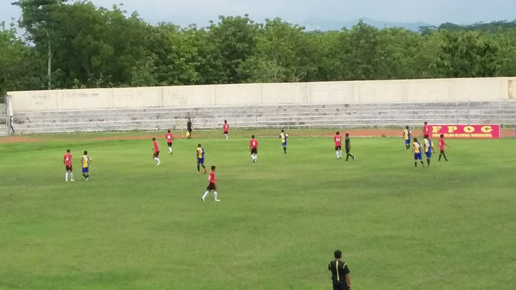 Pertandingan Nova Ariyanto And Friends VS Gunungkidul Selection. KH/ Edo