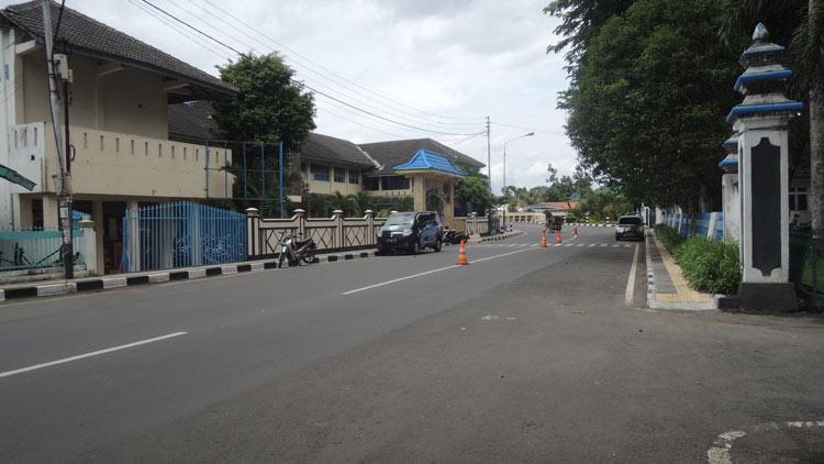 Kasawan jalan protokol sebagai salah satu titik pantau penialian Adipura. KH/ Kandar