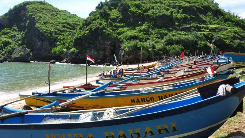 Pantai Ngrenehan di Desa Kanigoro Kecamatan Saptosari. KH/JJW.
