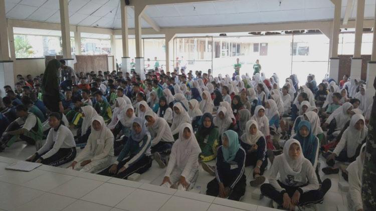 Suasana seleksi paskibraka pelajar Gunungkidul. KH/ Edo