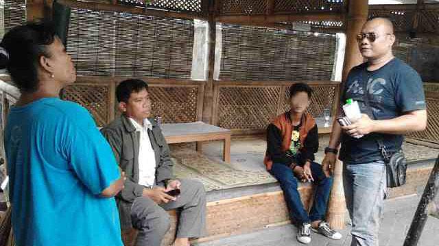 Pelaku Ag saat ditangkap di wilayah Yogyakarta. KH