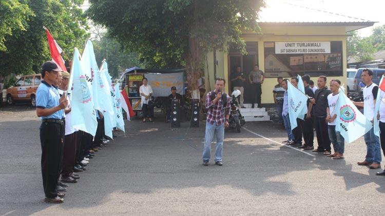 Aksi Demonstrasi oleh KSPSI Gunungkidul menuntut upah layak. KH/ Edo