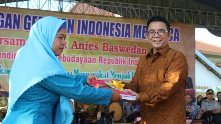 Pencanangan Gerakan Indonesia Membaca Di Gunungkidul. KH/ Edo