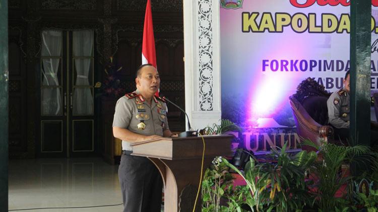 Kapolda DIY Brigjen Pol Prasta Wahyu Hidayat saat berkunjung ke Gunungkidul. KH/ Edo