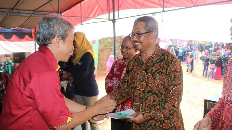 Camat Patuk, Haryo Ambar Suwardi membuka Festival Nawing. KH/ Edo