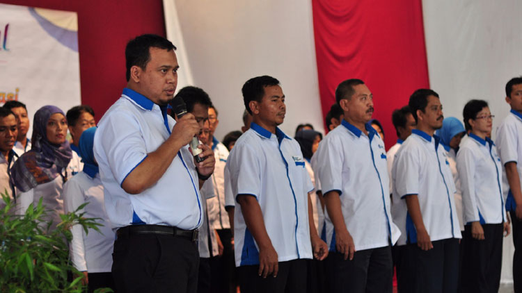Pelaksanaan pelantikan Pengurus IGI di Yogyakarta. Foto: Sugeng Andono.