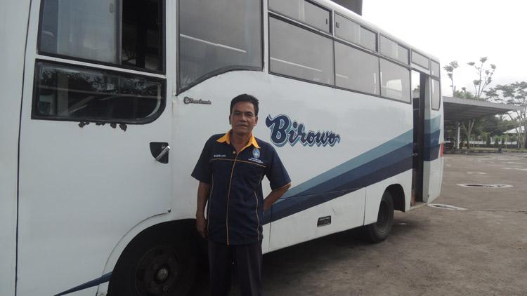 Wasdiyanto, Sekertaris Organda Gunungkidul. saat ditemui di Terminal Dhaksinarga. KH/ Kandar