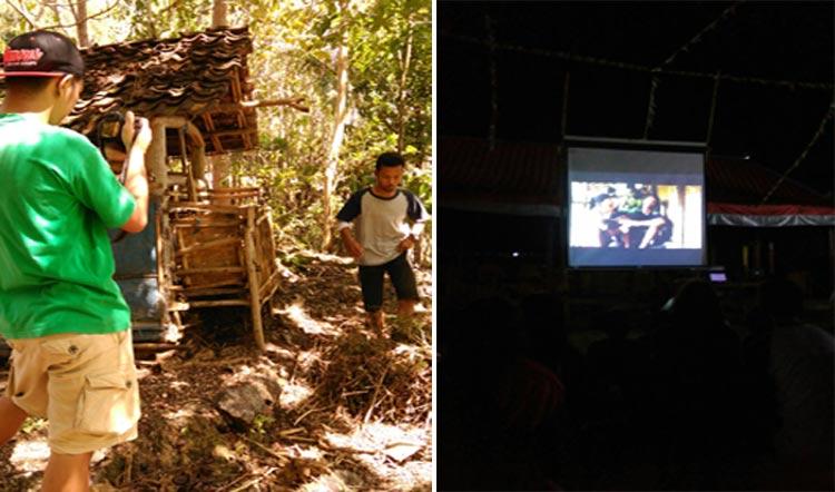Pembuatan dan pemutaran film karya Karangtaruna Padukuhan Mendak Saptosari, sebagai pengisi tradisi Rasulan. KH